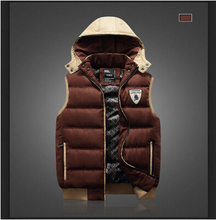 Men fashion winter vest thermal small cotton vests overcoat wadded jacket tops winter coat outerwear cotton-padded jackets coats(China (Mainland))