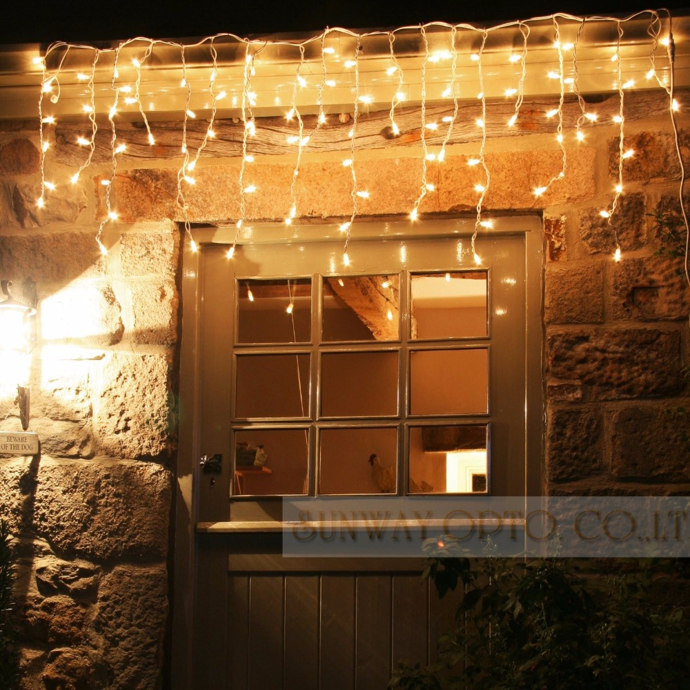 Connectable 5M led curtain icicle string lights led fariy lights Christmas lamps Icicle Lights Xmas Wedding Party Decoration(China (Mainland))
