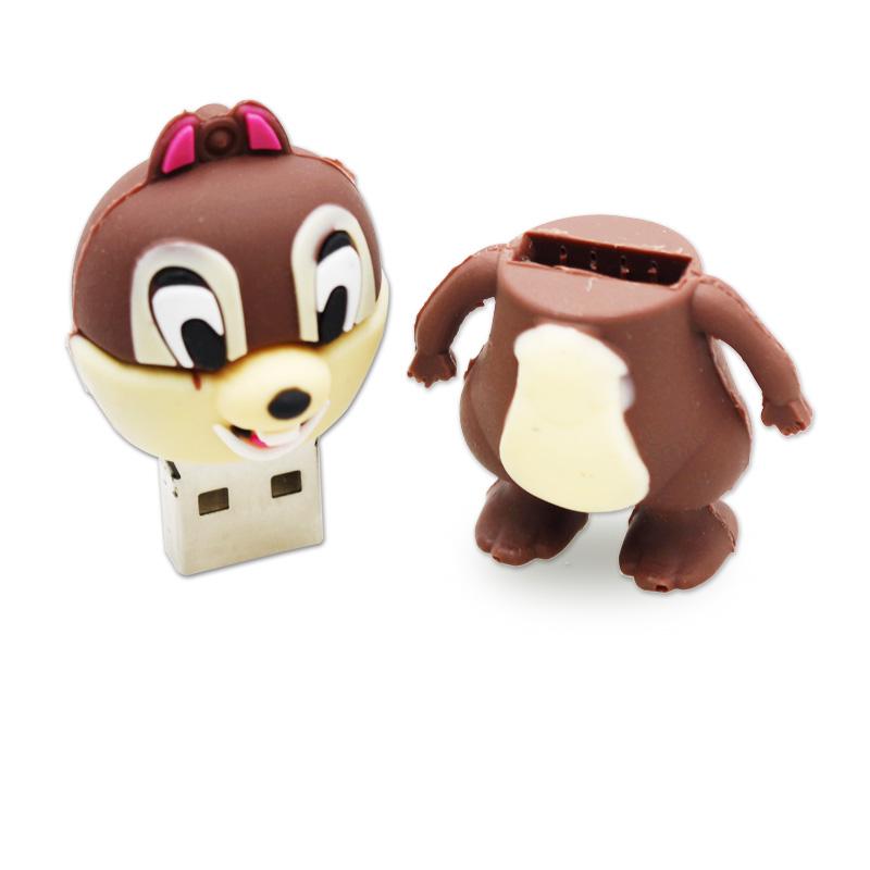 usb flash drive lovely squirrel cartoon 4g 8g 16g 32g 64g usb flash drive Pen Drive memory stick Drop shipping Free shipping(China (Mainland))