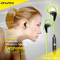 New arrive Awei A890BL Wireless bluetooth sports stereo earphones in ear Noise Cancelling handsfree with mic