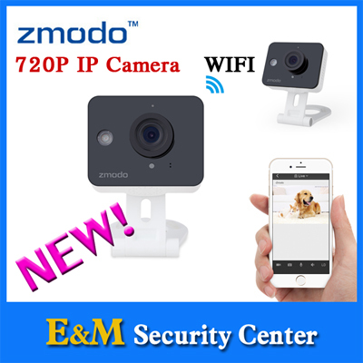 Zmodo 2016 new arrival 720P wifi camera Color Sensor Home monitor IP network mini box camera Smart cube wireless ZM-SH75D001(China (Mainland))