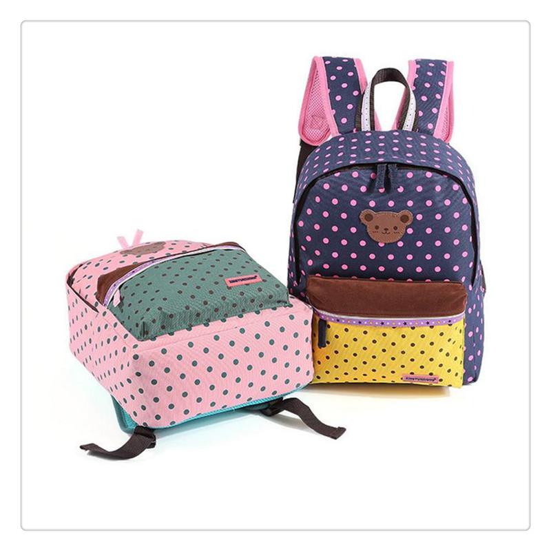 cartoon bear Childrens Orthopedic girls pinke bag school bags kids backpack canvas children school bag print gift for child<br><br>Aliexpress