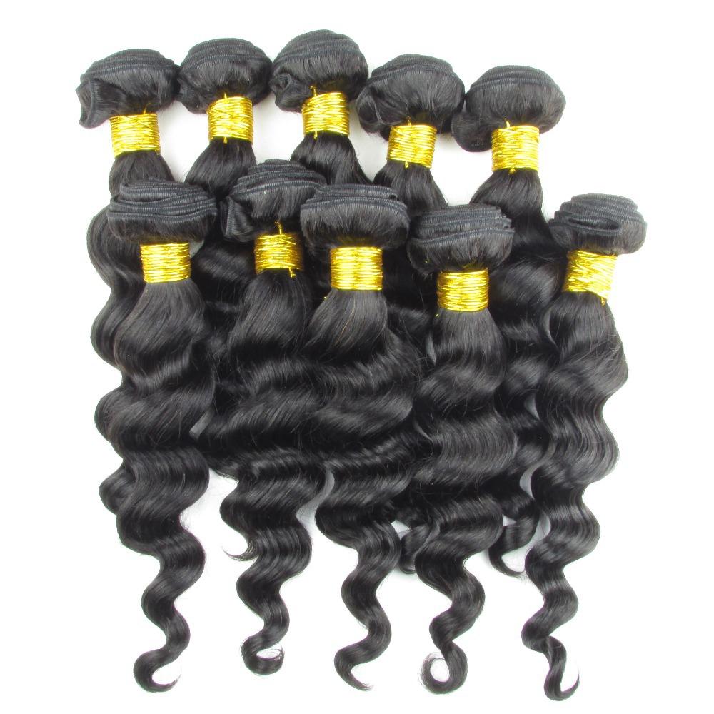 6A Brazilian Virgin Hair Weaves 10Pcs/Lot Bundles Unprocessed Virgin Brazilian loose Wave Wavy Brazilian Human Hair Shipping Fre<br><br>Aliexpress