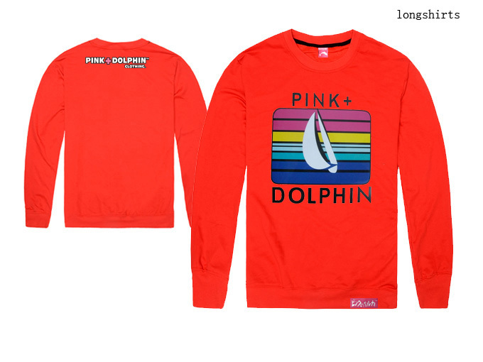 Pink dolphin t shirts Casual Men Fashion Clothing Hip Hop Printing cotton Autumn tops long sleeve Brand tee New Free shipping(China (Mainland))