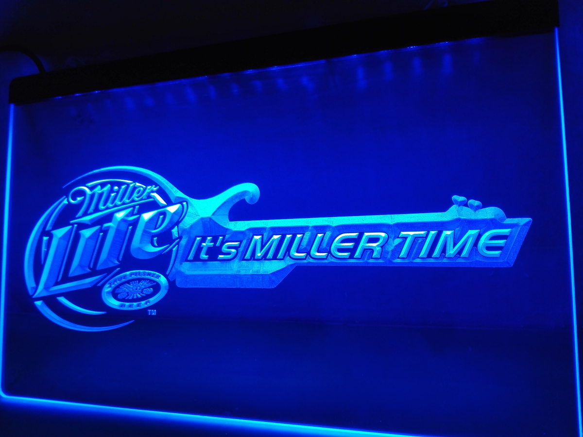 LE017- Miller Lite Beer Bar Guitar LED Neon Light Sign home decor crafts(China (Mainland))