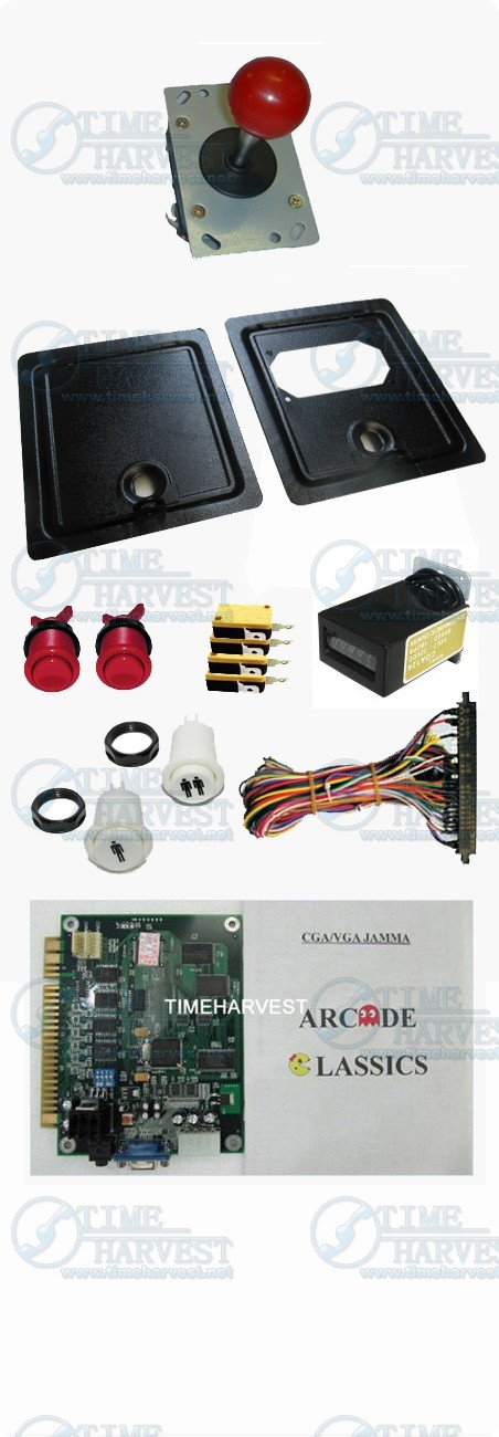 DIY Arcade parts Bundles kits With Joystick Push button Microswitch Coin door Jamma harness for Arcade Machine/Game cabinet(China (Mainland))