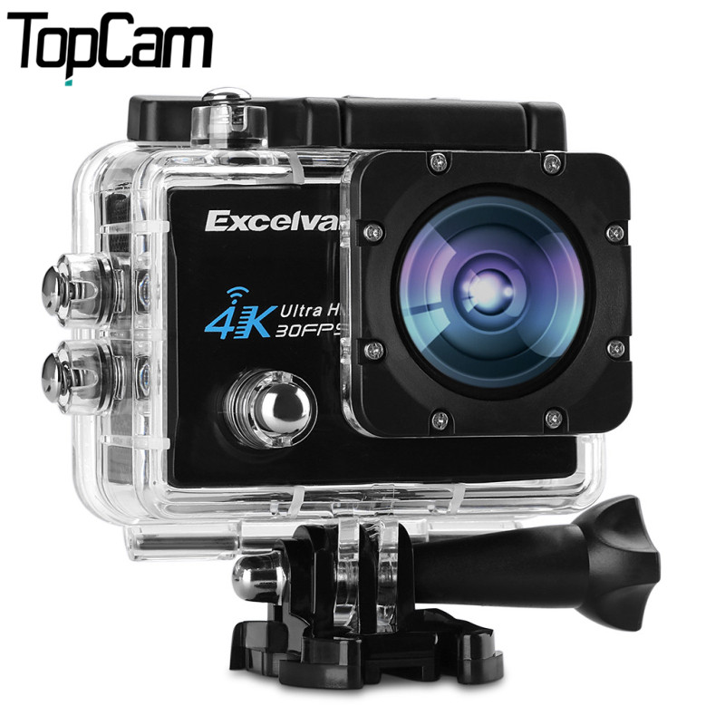 Excelvan Q8 Action Camera 2.0 inch WiFi 4K 30FPS 16MP H.264 30m Waterproof 170 Wide Lens Action DV Sports Camera(China (Mainland))