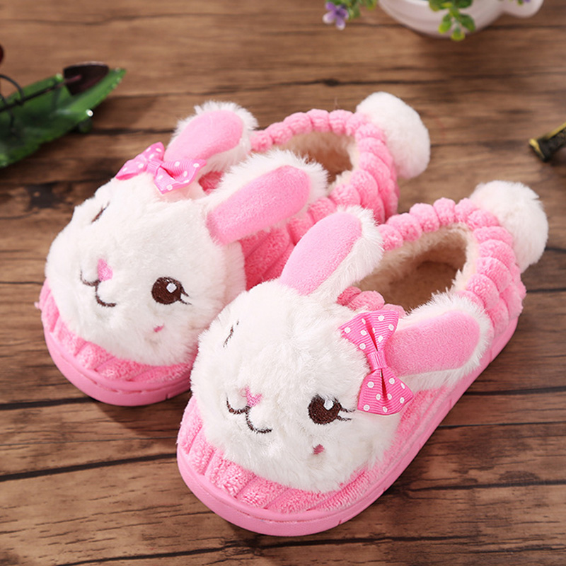 Winter Kids Slippers Boy and Girl House Cotton Shoes Warm Cartoon