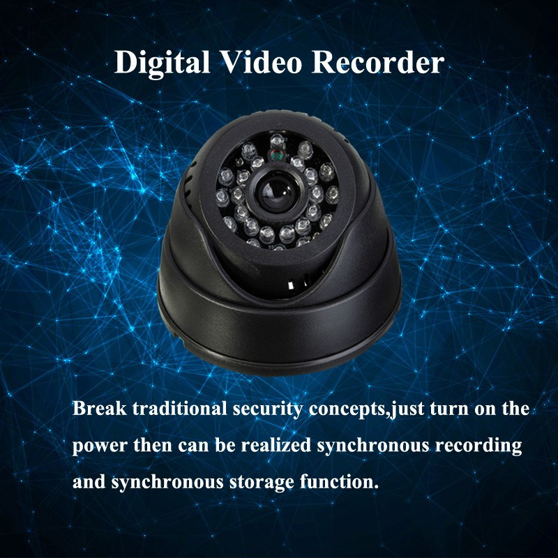"Hot Sale 1/4"" Senor 420TVL Camera Indoor CCTV Surveillance Camera Dome Micro SD/TF Card Night Vision DVR Recorder"