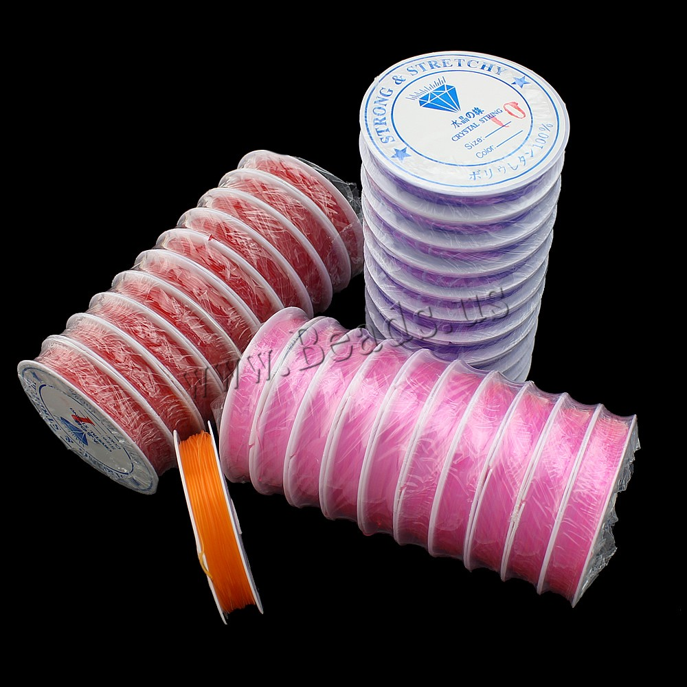 10PC/Lot DIY Crystal Beading Stretch Cord Elastic Line,Transparent Colorful Round Beading Wire/Cord/String/Thread Jewelry Making(China (Mainland))