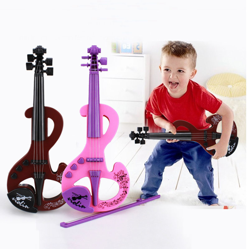 Mini Electric Violin Earlier Childhood Music ABS Instrument Toy Simulation Violins 2 Colors For Children Toys TC0010(China (Mainland))