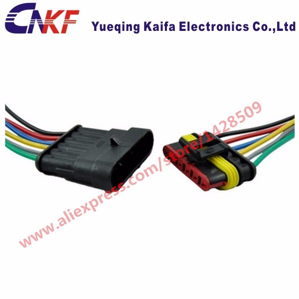 popular automobile wiring harness buy cheap automobile wiring 5 sets tyco amp 6 pin kit automotive connector waterproof car plug terminals automobile