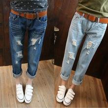 2016 New Fashion Summer Style Women Jeans ripped Holes Harem Pants Jeans Slim vintage boyfriend jeans for women puls size