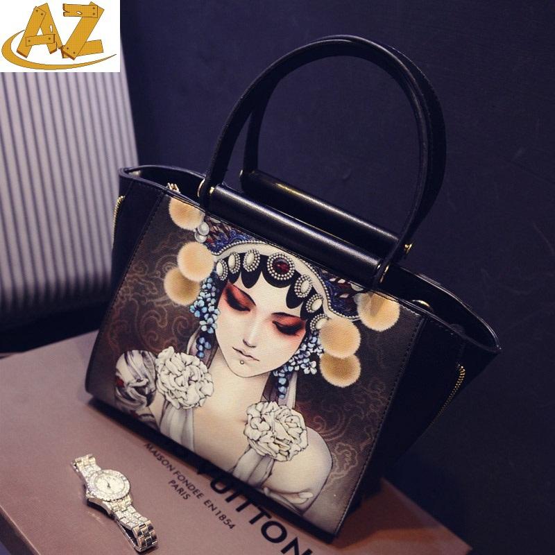 2015 new fashion printing retro large capacity handbag briefcase single shoulder bag  -  Shenzhen AZ trading Co., Ltd store