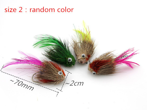 1Pcs 2015 Top fly fishing lure Streamer Trout and Salmon bionic fly lure with Single hook lures  Fishing Bait  Artificial lure <br><br>Aliexpress