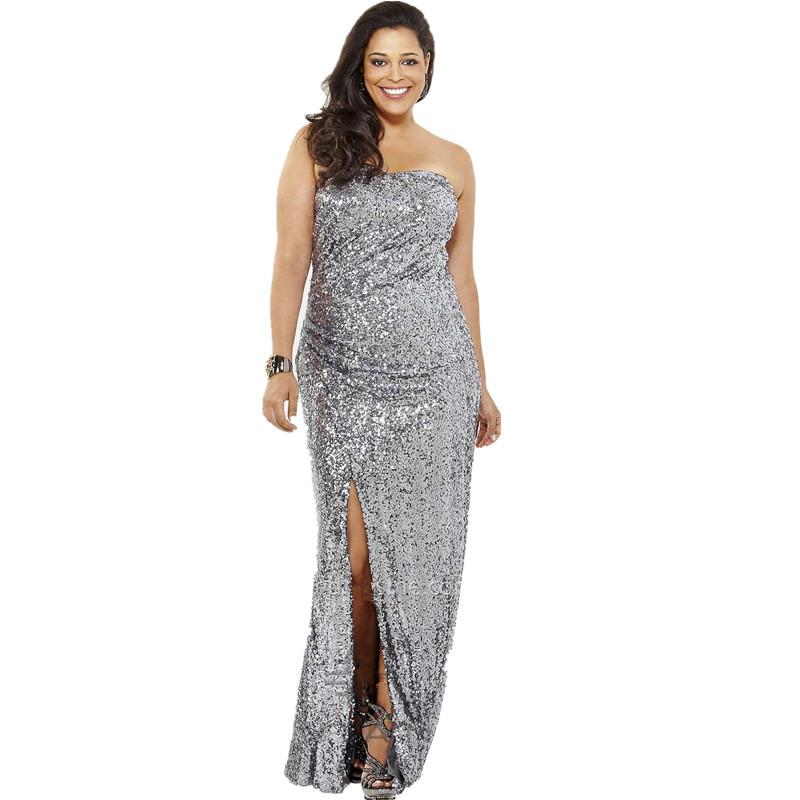 Online Get Cheap Plus Size Silver Sequin Formal Dress -Aliexpress ...