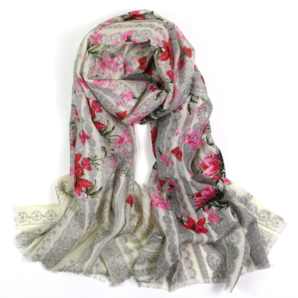 Pashminas 2015,lace flower print,floral hijab,wool lace scarf,bandana,cashmere,shawls and scarves,cape,pashmina scarf,poncho(China (Mainland))