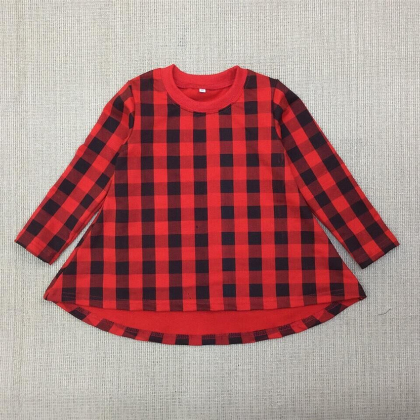 Baby Girls Christmas Red Plaid Dress Girl Winter Autumn Casual Dresses Girl's Cotton Fashion Long Sleeve Xmas Dress 3-10 Yrs C38(China (Mainland))