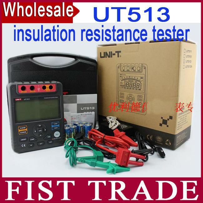 Uni-t ut513 digitale resistenza di isolamento tester di prova del tester megger 1 m-1000g ohm 5000 v interfaccia usb(China (Mainland))