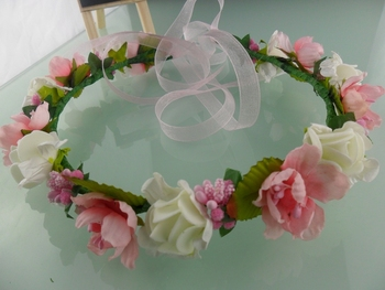 New Artificial Flower Garland Head Ring Headdress for Bride Bridesmaid Wedding Party Photo Free Shipping HT0001