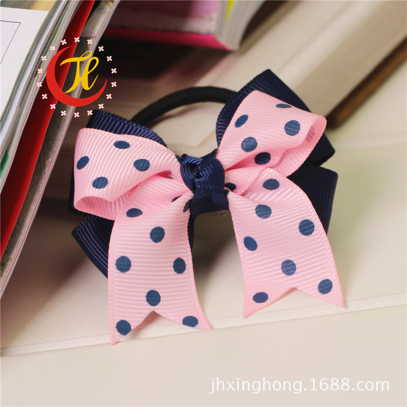 new 2014 children kids baby girls hair accessories rubber bands barrettes girl headwear bow Retail wholesale Boutique SF-171(China (Mainland))