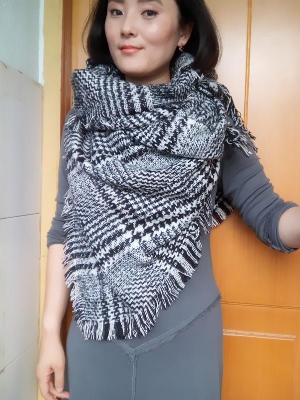 2015 new fashion women long scarf plaid women scarf font b tartan b font scarf big