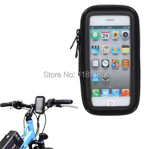 Waterproof Bike Bicycle Phone Case Cover Protector Bag Pouch Handlebar Mount Holder Cradle For iPhone 5 5S 5C Pouch Bag Wallet(China (Mainland))