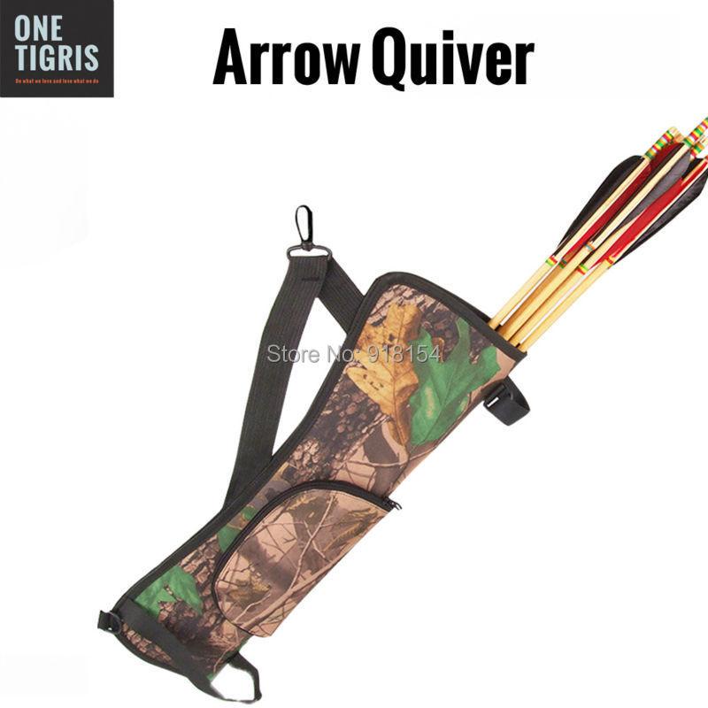 OneTigris Portable Camo Archery Arrow Quiver Holder Bow BACK SIDE QUIVER Shoulder Bag Pouch Bow Arrow