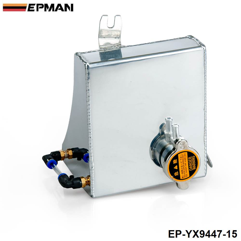 EPMAN Polished Aluminum Radiator Coolant Overflow Tank Can For Nissan 240SX S13 Silvia EP-YX9447-15(China (Mainland))