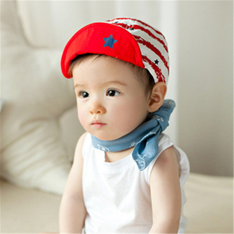 0-1 years old Soft Brim Hats caps for Children Kids Boys Girls Snapback Hats children's hats Caps kids Sun Hats Fit For 48-53cm(China (Mainland))