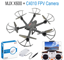 F15066-B/7 MJX X600 2.4G 6-axle Gyro RC Drone Hexacopter UAV 3D Roll Auto Return Helicopter + MJX C4010 720P 1.0MP HD FPV Camera