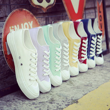 Buy 2017 new white canvas shoes female spring summer white shoes women casual shoes students shoes for $10.43 in AliExpress store