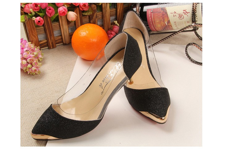Hot sale!New Design Women Shoes High Heels Metal Head Pointed Sexy Women Pumps party Wedding shoes For Women Size 34-40 ZX2.5