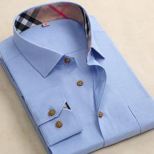 2015 New Fashion Brand  Men Shirts Long Sleeve Slim Fit  Casual Male  Dress Shirt  men Clothes