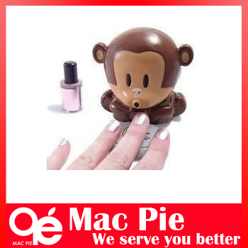 Cute Unique New Monkey Fingernails Polish Blower Dryer + Freeshing(China (Mainland))