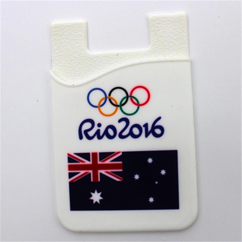 White card pocket card wallet of Australia flag cartoon for 2016 Rio Olympics(China (Mainland))