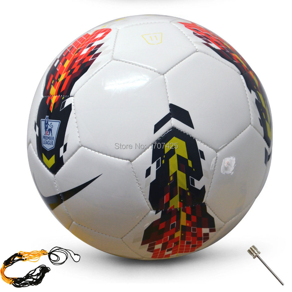 2014 New Brand Premier league soccer ball England league football Anti-slip granules football ball PU size 5 ball Free shipping(China (Mainland))