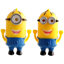 Minions baby toy New Light Sound Doll Key Ring minions Despicable Me 3D Mini Minions LED Keychain Kids Children Toys Cover(China (Mainland))