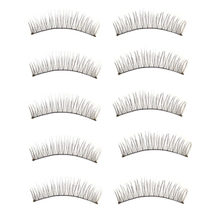 Brand new 2015 10 Pairs Long Thick Soft Handmade Fake False Eye Lash Makeup Extensions free shipping