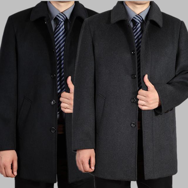 2016 новое прибытие мужская шерстяное пальто средней длины мужского утолщение кашемир ...