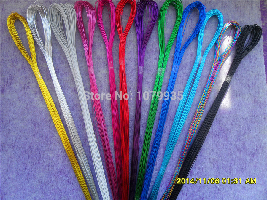 100pcs/lot 22# Commonly used iron Wire For DIY nylon flower 12 colors to choose Ronde flower Material(China (Mainland))