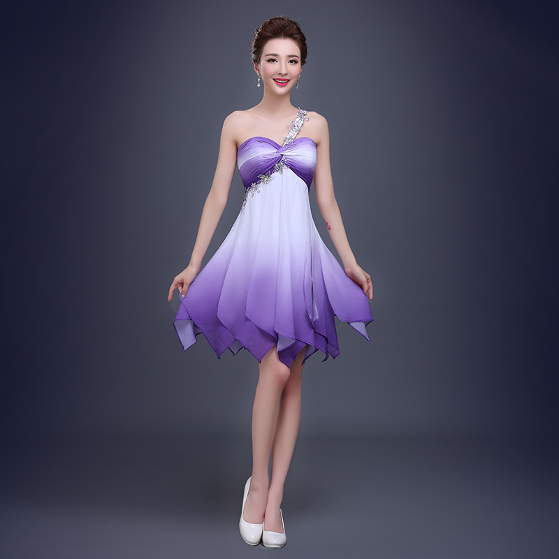 Online Buy Wholesale bridesmaid white purple dresses from China ...