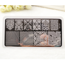 BP-L027 llusionTheme Nail Art Stamp Template Image Plate Rctangular Stamping PLates BORN PRETTY 12 x 6cm(China (Mainland))