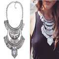Fashion Necklace Pendant Women 2016Choker Jewelry Collare Crystal Collier Femme Punk Costume Big Vintage Chunky Coin