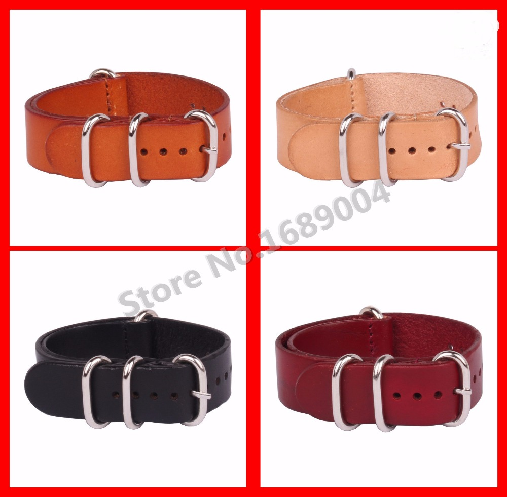 3pcs/lot High Quality Vintage Genuine Leather nato watch Straps Watchband for Military Watch 18mm 20mm 22mm 24mm wholesales<br><br>Aliexpress