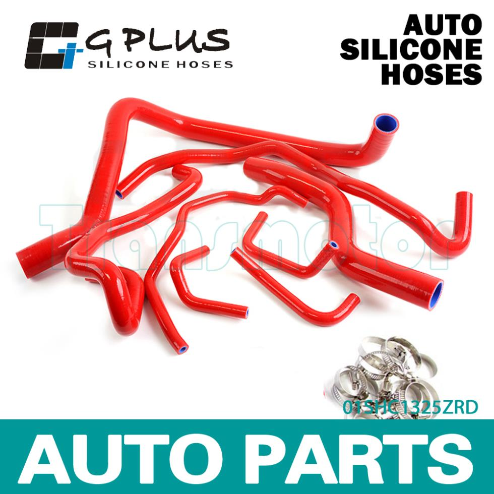 Silicone Radiator Heater Hose Kit Fit For HONDA PRELUDE H22A 1997-2001 Red(China (Mainland))