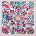 Scarf Women Luxury Brand Satin Silk Scarf Zebra Printed Fashion Accessories Summer Winter Hijab 100*100(CM)