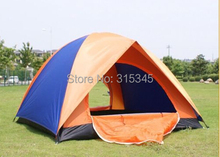 Outdoor Camping Fold Tent Double Layer Waterproof Adhesive Tent For 3-4 People(China (Mainland))