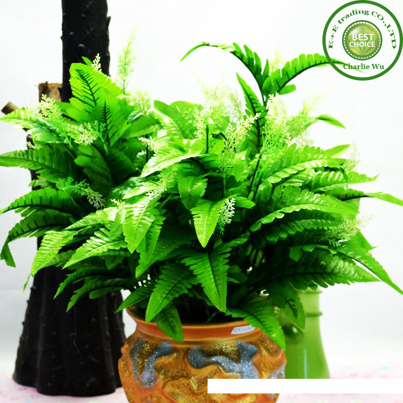 Single Artificial Flowers Simulation plant Home Decorative Plastic Plant Green Fern Leaf & Retail - E+E trading Co.,LTD store