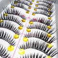 10 Pair Thick False Eyelashes Mink Eyelash Lash Extensions Voluminous Makeup Tail Winged False Lashes Maquiagem